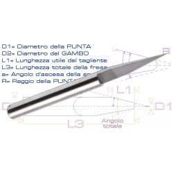 Bulino HM 3mm 20° Pianetto 0,1mm